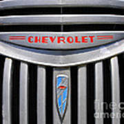 Chevy Truck Grill Poster