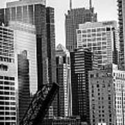 Chi Town  Sun Times Bw Poster