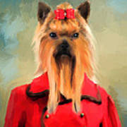 Chic Yorkshire Terrier Poster