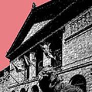 Chicago Art Institute Of Chicago - Light Red Poster