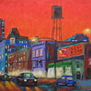Chicago Avenue Looking West Poster