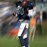 Chicago Bears Wr Armanti Edwards Moving The Ball Training Camp 2014 Poster