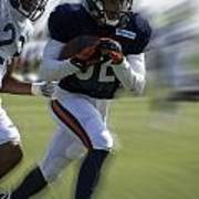 Chicago Bears Wr Chris Williams Moving The Ball Training Camp 2014 Poster