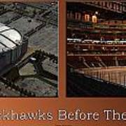 Chicago Blackhawks Before The Gates Open Interior 2 Panel Tan Poster