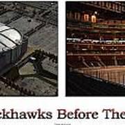Chicago Blackhawks Before The Gates Open Interior 2 Panel White 01 Poster