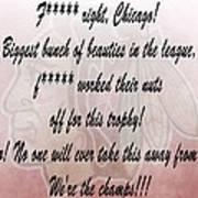 Chicago Blackhawks Crawford's Speech Poster