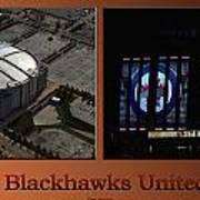 Chicago Blackhawks United Center Signage 2 Panel Tan Poster
