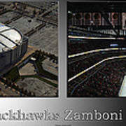 Chicago Blackhawks Zamboni Break Time 2 Panel Sb Poster