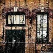 Chicago Brick Facade Grunge Poster