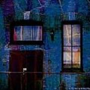 Chicago Brick Facade Night Moves Poster
