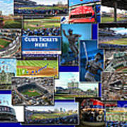 Chicago Cubs Collage Poster