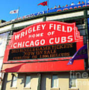 Chicago Cubs Marquee Sign Poster