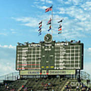 Chicago Cubs Scoreboard 02 Poster