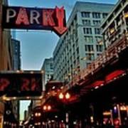 Chicago Dawn Stroll Poster