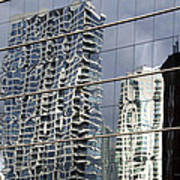 Chicago Facade Reflections Poster