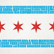 Chicago Flag Neighborhoods Poster