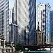 Chicago Il - Chicago River Near Wabash Ave. Bridge Poster