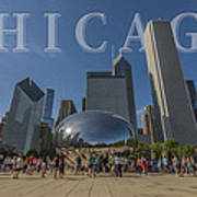 Chicago Illinois Bean Letters Poster