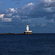 Chicago Illinois Harbor Lighthouse Early Evening Usa Poster