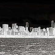 Chicago In Black And White Poster