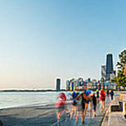 Chicago Lakefront Panorama Poster by Steve Gadomski