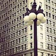 Chicago Lamp Post Poster