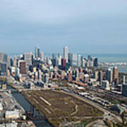 Chicago Looking North 02 Poster