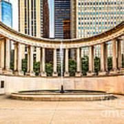 Chicago Millennium Monument In Wrigley Square Poster