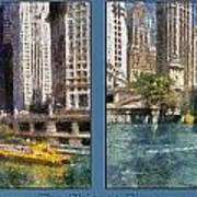Chicago River 2 Panel Poster
