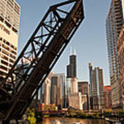 Chicago River Traffic Poster