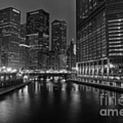 Chicago Riverwalk Poster by Eddie Yerkish