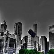 Chicago Skyline 1 Bwc Poster