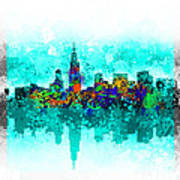 Chicago Skyline Abstract Poster