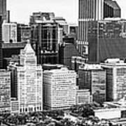 Chicago Skyline Aerial Panorama Photo Poster
