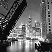 Chicago Skyline - Black And White Sears Tower Poster by Horsch Gallery