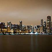 Chicago Skyline - Fog Rolling In Poster