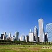 Chicago Skyline From Grant Park Poster