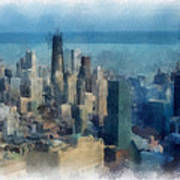 Chicago Skyline Photo Art 06 Poster