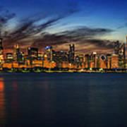 Chicago Sunset Poster