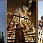Chicago Tall Shoulders Trump Sears Tribune Triptych 3 Panel 01 Poster