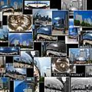 Chicago The Bean Collage Poster