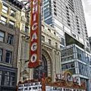 Chicago Theater Facade Northside Poster