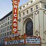 Chicago Theater Facade Southside Poster