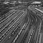 Chicago Transportation 02 Black And White Poster