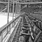 Chicago United Center Before The Gates Open Blackhawk Seat One Bw Hdr Poster