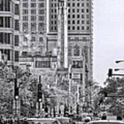 Chicago Water Tower Beacon Black And White Poster