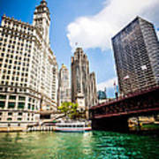 Chicago Wrigley Tribune Equitable Buildings Photo Poster
