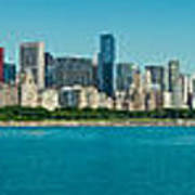 Chicago's Lakefront Panorama Poster