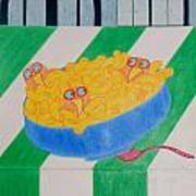 Chickadee Chick Macaroni Poster