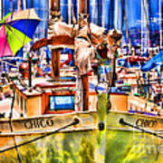 Chico Sail Boat By Diana Sainz Poster